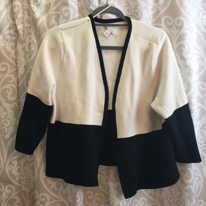 Cotton black and white cardigan charter club
